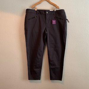 Lane Bryant Genius Fit Skinny Ankle Pants Gray